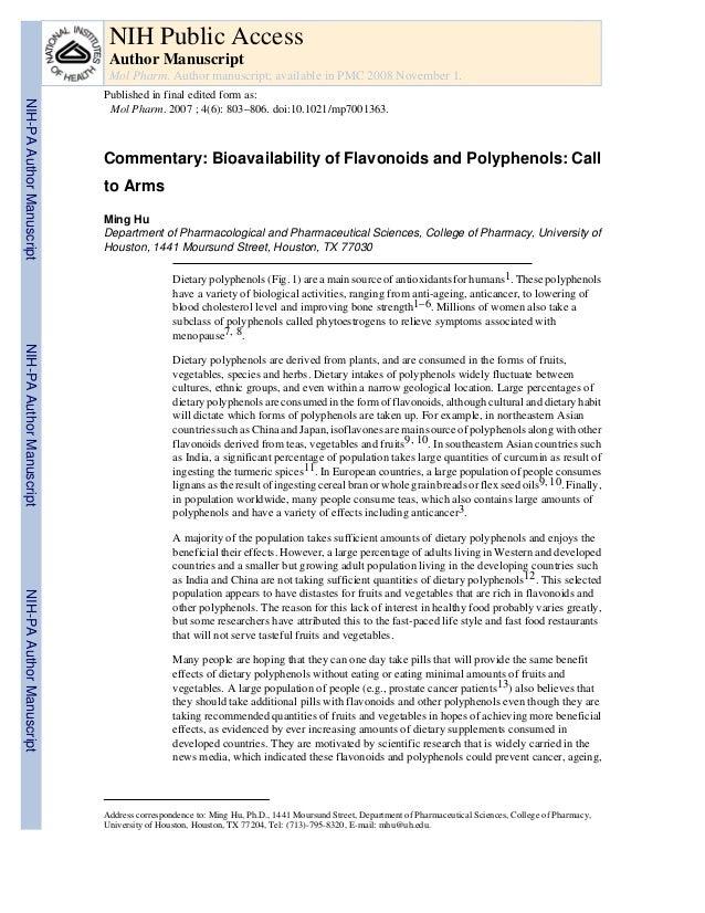 Hu et al., 2007 mol. pharm.bioavalability of polyphenols