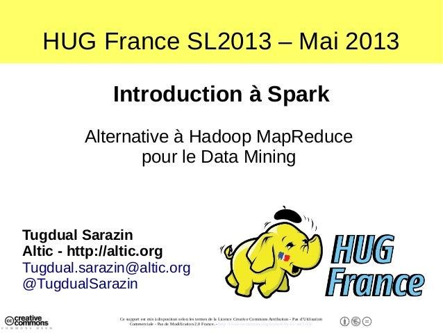 Spark une alternative à Hadoop MapReduce pour le Datamining