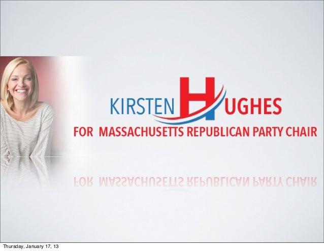 Kirsten Hughes for Mass GOP Chair