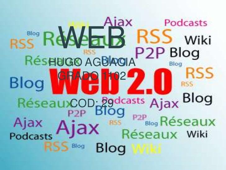 WEBHUGO AGUACIA GRADO 1102  COD: 29