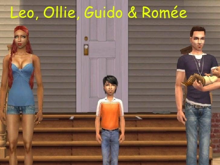 <ul>Leo, Ollie, Guido & Romée </ul>