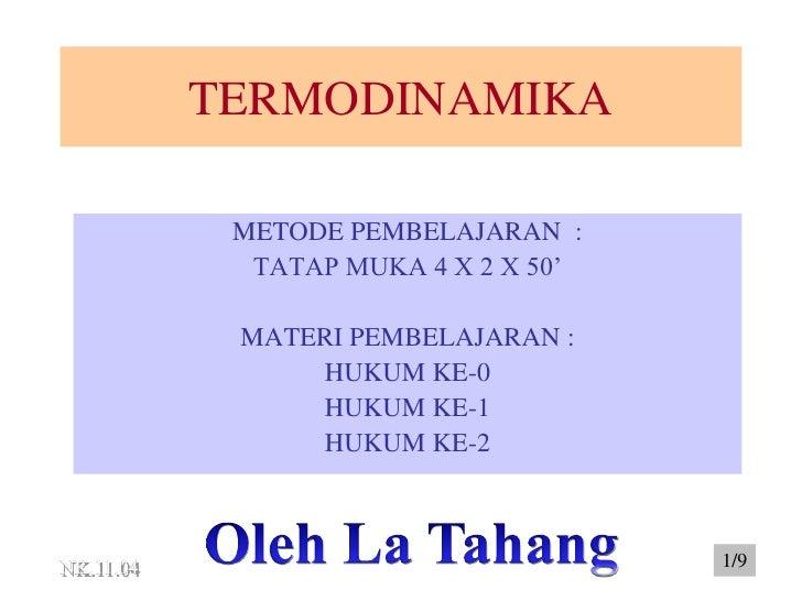 Hukum hukum termodinamika