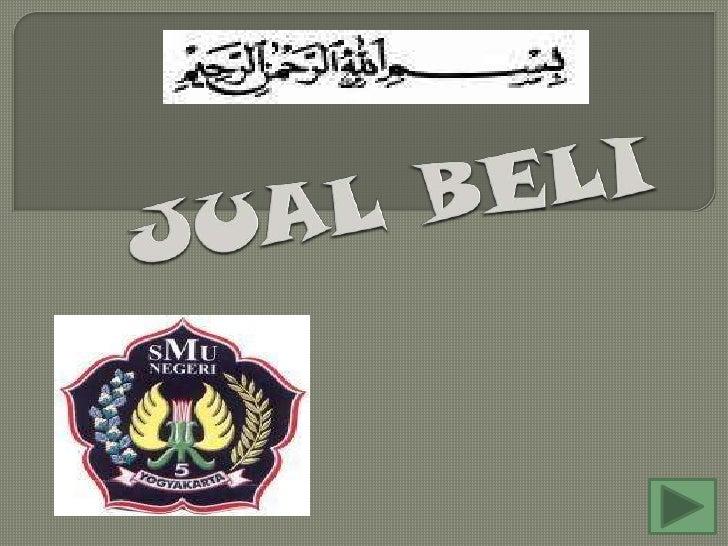Hukum jual beli dalam islam