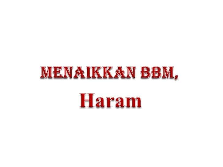 Hukum syara' menaikkan bbm(edited)