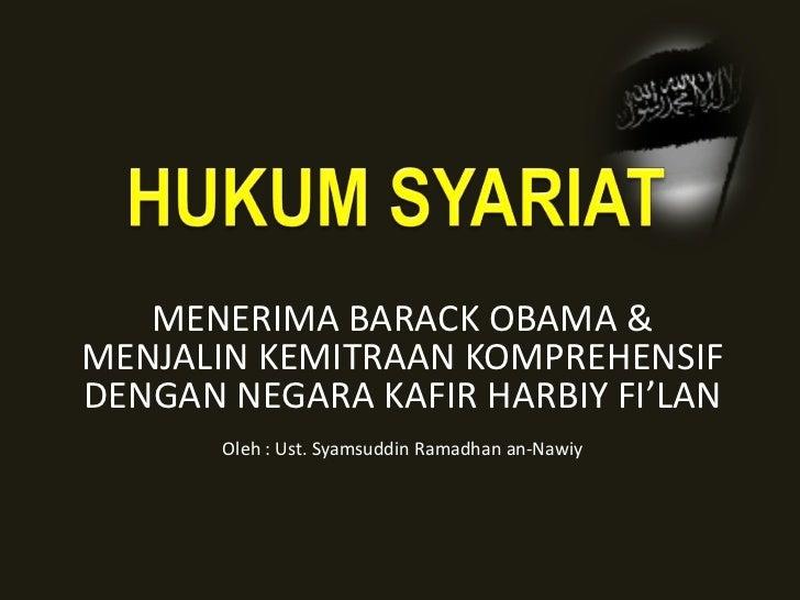 Hukum Syariat Menerima (Syamsudin Ramadhan)