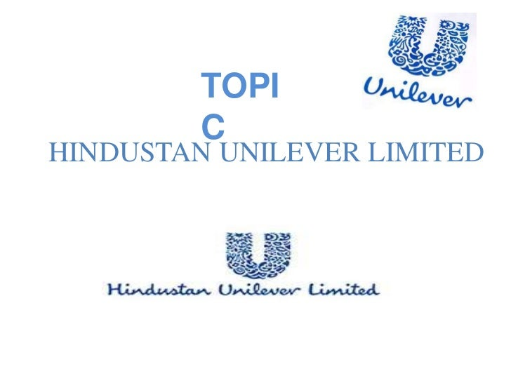 TOPI         CHINDUSTAN UNILEVER LIMITED