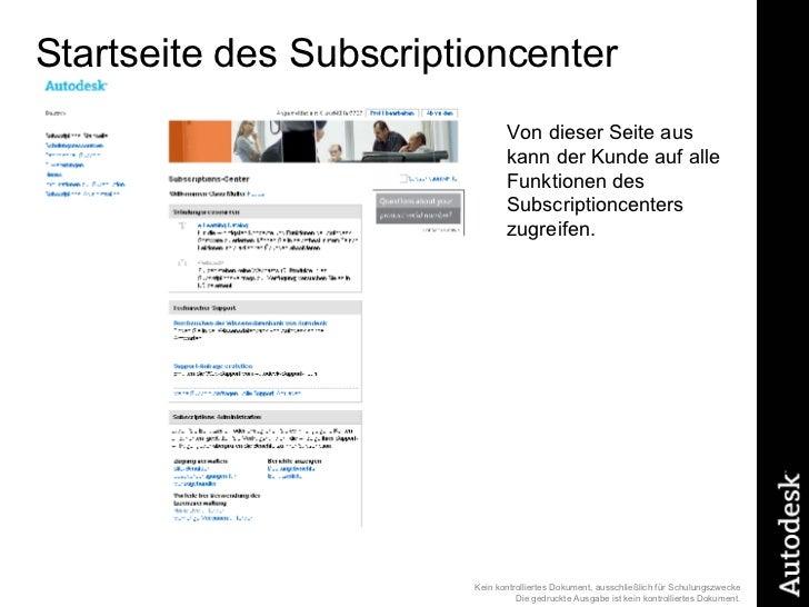 Startseite des Subscriptioncenter Von dieser Seite aus kann der Kunde auf alle Funktionen des Subscriptioncenters zugreifen.