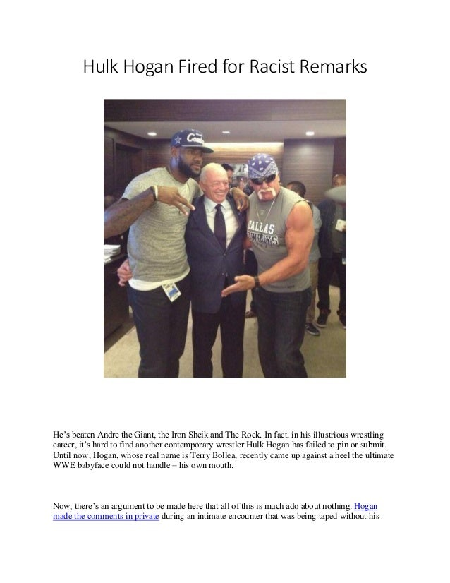hulk hogan fired racist comments
