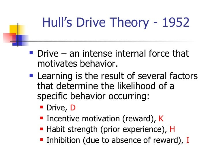 hull theory of learning pdf