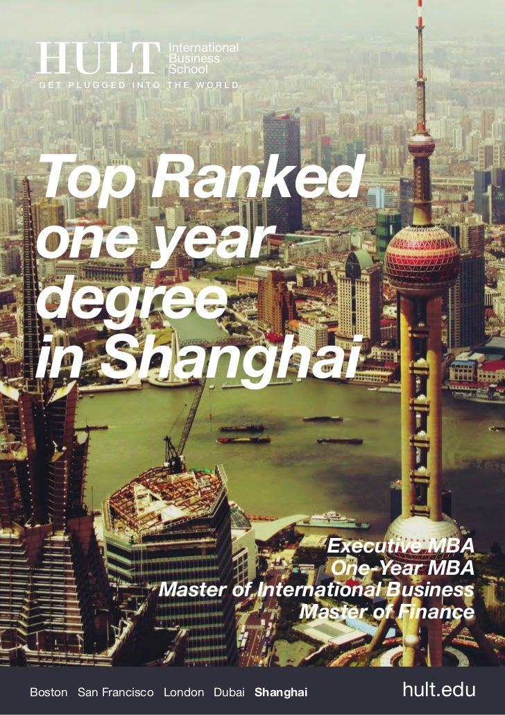 Top Rankedone yeardegreein Shanghai                                    Executive MBA                                     O...