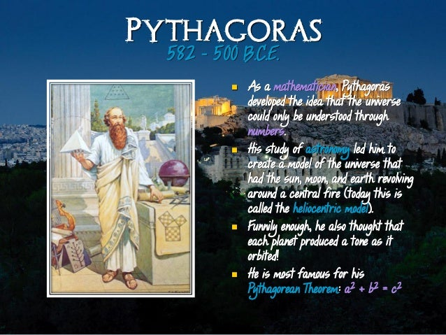 an analysis of the pythagorean theorem of the greek philosopher pythagoras of samos 08112012  besides obvious examples involving the pythagorean theorem,  dates pythagoras and greek  of this pythagorean legacy in harmonic analysis.