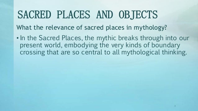 hum 105 sacred places in mythology Mythology, sacred places and objects slideshare uses cookies to improve functionality and performance, and to provide you with relevant advertising if you continue browsing the site, you agree to the use of cookies on this website.