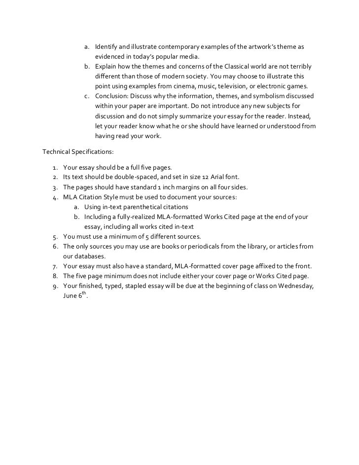 Mla Citation In An Essay