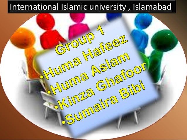 International Islamic university , Islamabad