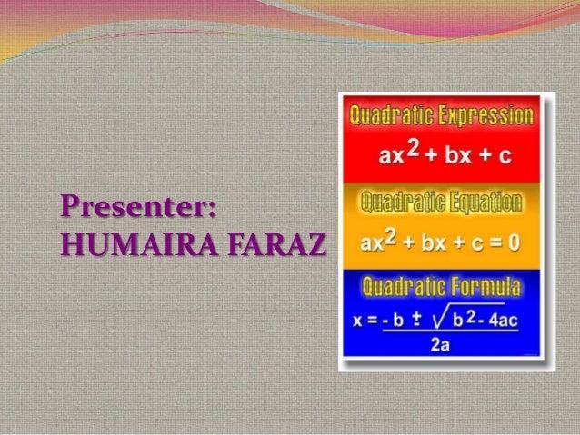 Humaira quadratic