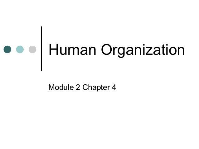 Human Organization Module 2 Chapter 4