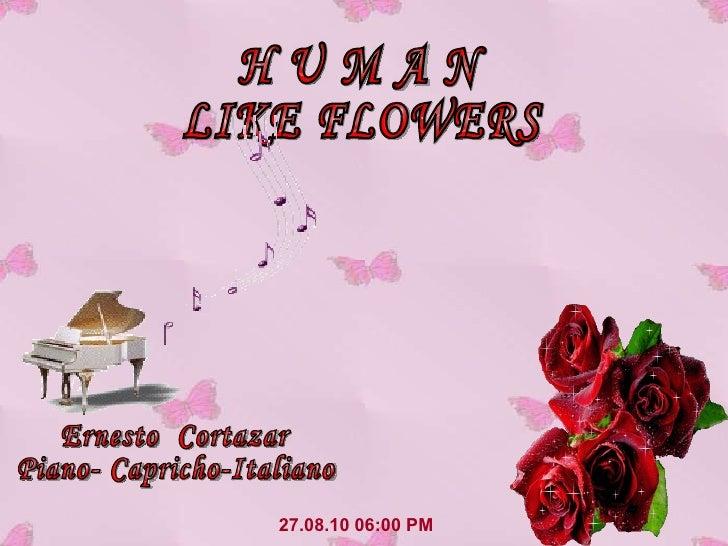 27.08.10   06:00 PM H U M A N LIKE FLOWERS Ernesto  Cortazar Piano- Capricho-Italiano