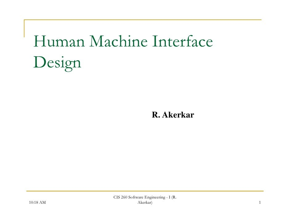 human machine interface design