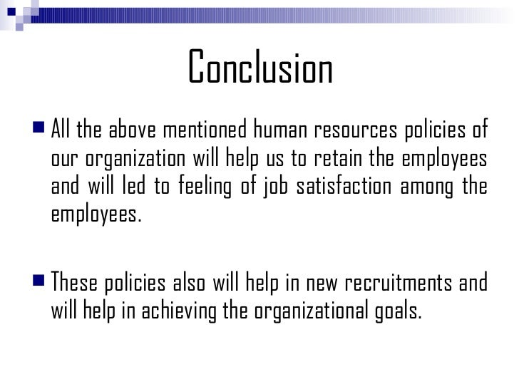 hr report conclusion Dismissal for dishonesty: not a foregone conclusion  past 17 years in dealing  with various human resources (hr) and industrial relations  6 sep 2018 -  amplats' sustainable development reporting lacking 6 sep 2018.