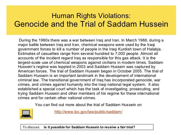 Human rights violation essay