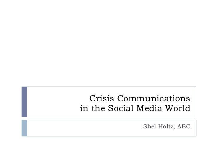 Marketing 2.0: Crisis Communications in the Social Media Era