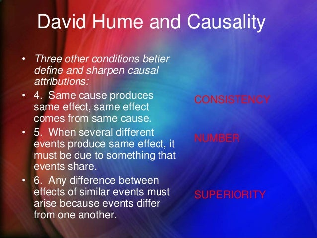 david hume cause and effect Kant versus hume on the necessary connection  the problem of induction, as it is known, was exposed by david hume in his treatise of human nature (1739) kant saw that hume's argument is valid and was provoked by its astounding conclusion  hume on the nature of cause.