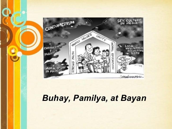 Free Powerpoint Templates Buhay, Pamilya, at Bayan