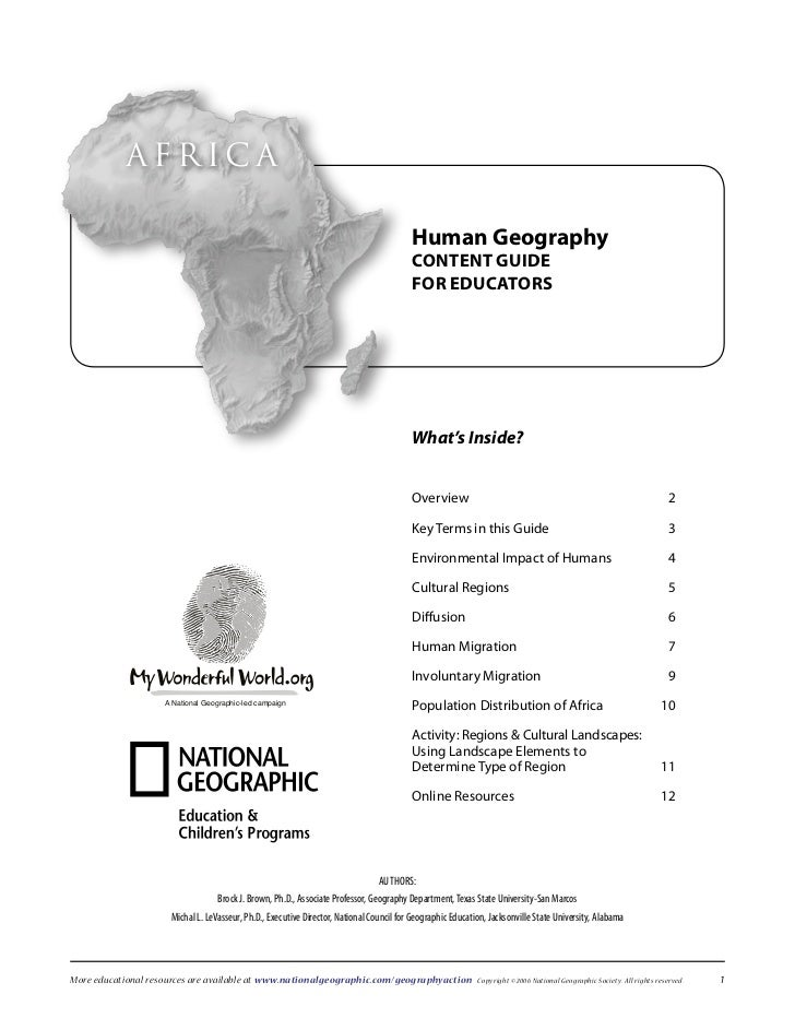 AfricA                                                                                         Human Geography            ...
