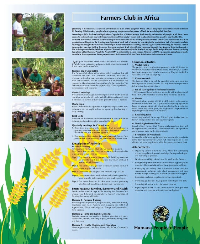 Humana people to people   farmers club
