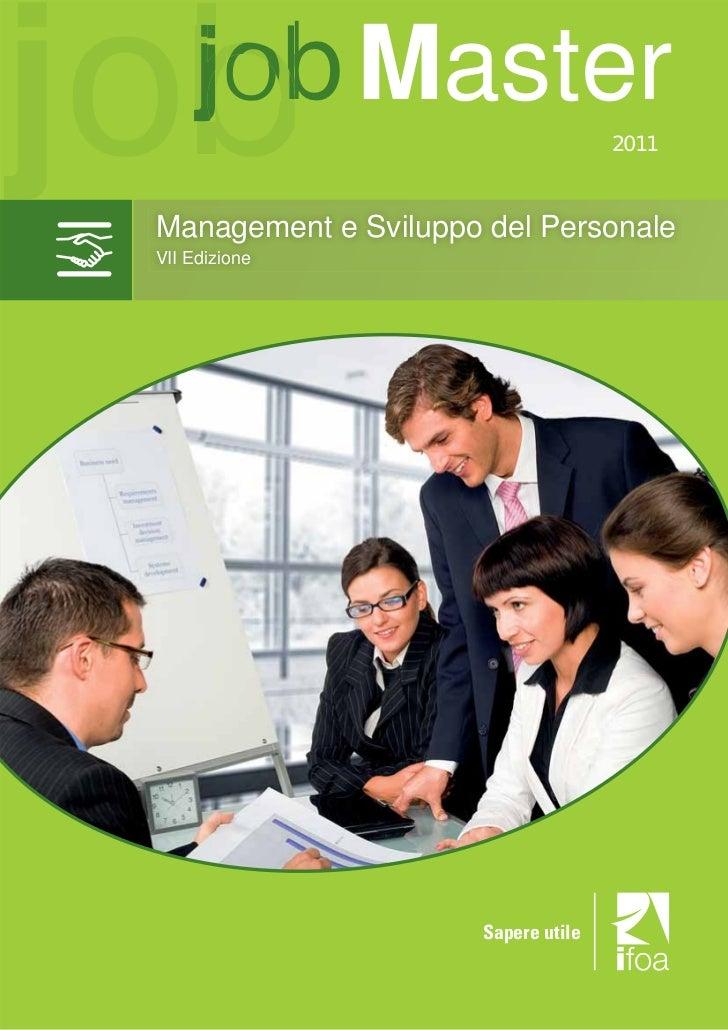 Job Master in management e Sviluppo del Personale