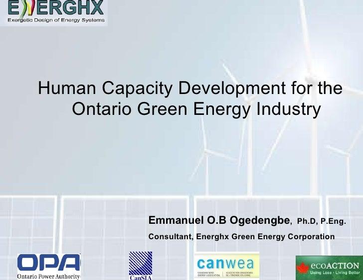 Human Capacity Development