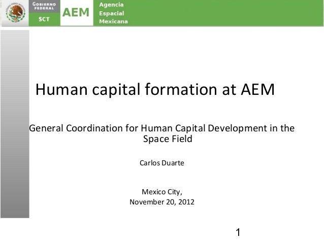 Human capital formation at AEMGeneral Coordination for Human Capital Development in the                         Space Fiel...