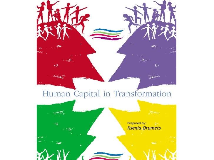 Human Capital In Transformation