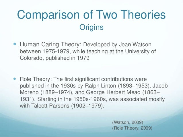 compares of jean watson and nightingale Introduction to theory as aintroduction to theory as a guide to caritas practice vision and overviewvision and overview: transform self and systems wi th an intentional caritas.