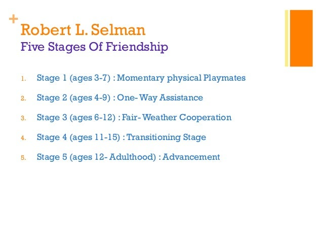 the five stages of friendship development children go through