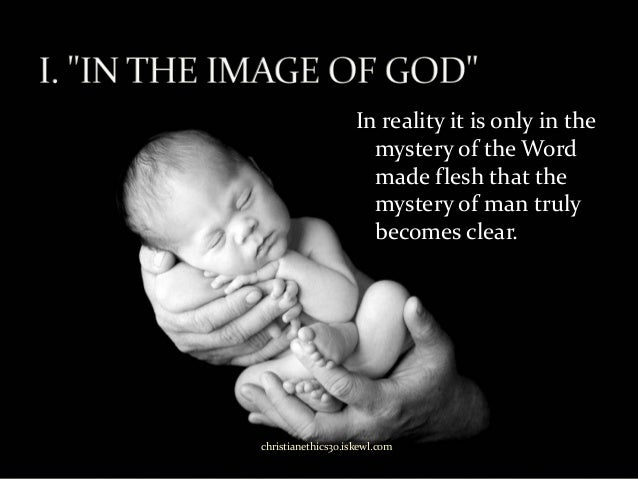 made in the image of god Now, this event happened before the fall of man, but we know that we are still in some sense created in the image of god because 1 corinthians 11:7 reaffirms this fact also genesis 9:6 imposes the death penalty because of the fact that man is made in the image of god.