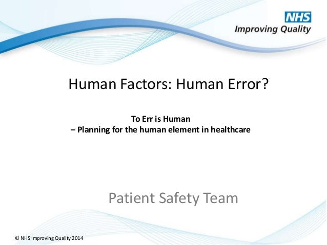 Human factors nhsiq 2014