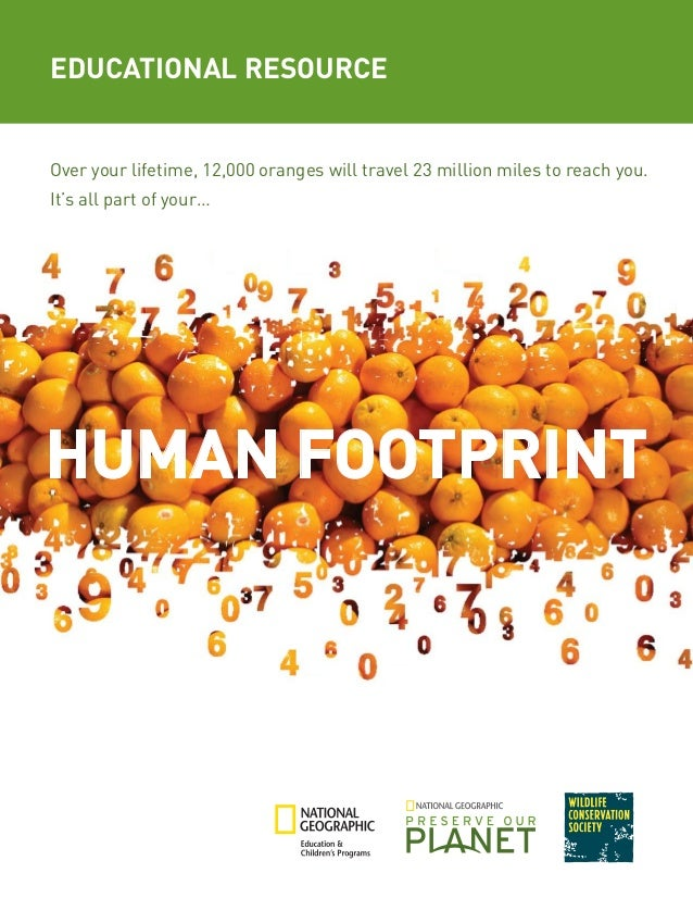 human footprint by national geographic essay