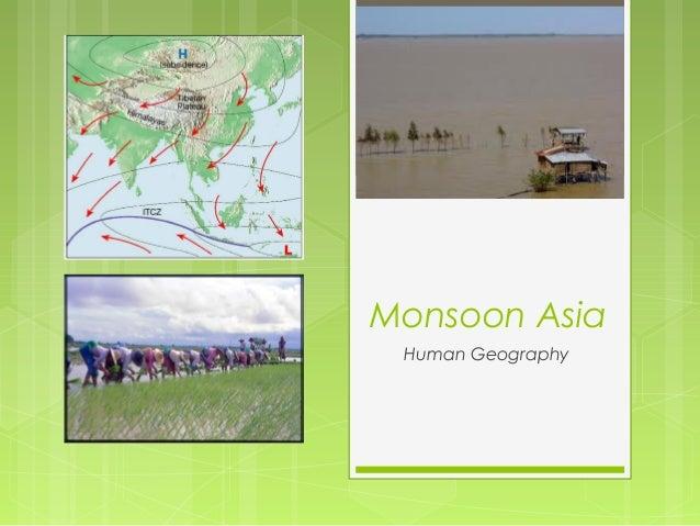 Monsoon Asia Human Geography