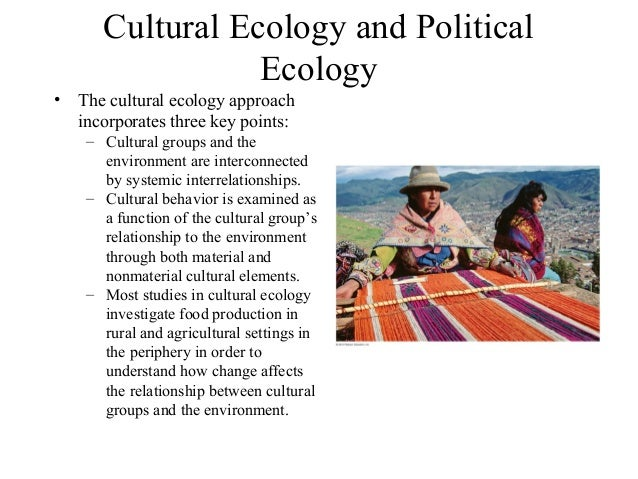 a study of cultural ecology Institute of cultural ecology internship in usa many study abroad programs take care of participants' international travel and housing arrangements.