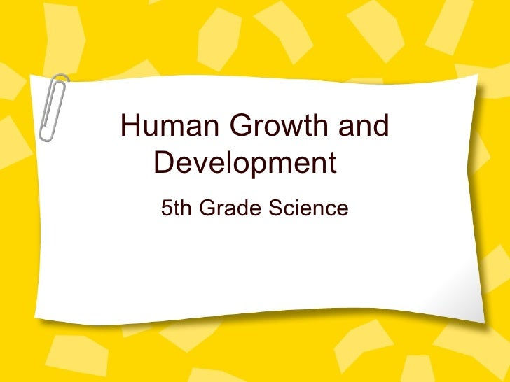 Human Growth and Development 5th Grade Science