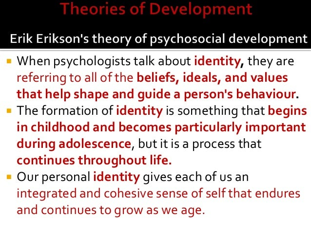 my life reflection on erik erikson s stages of development Erikson's stages of human psychological development, encompassing the entire human life-cycle, have stood up well to the test of time and research and have provided a solid base for researches and theorists alike.