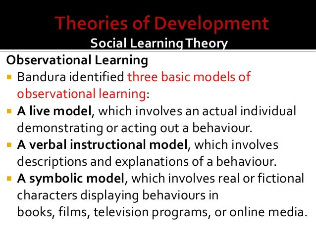 social learning theories essays By definition the term social learning theory is an approach that emphasizes on the role of modeling otherwise known as imitation or observational learning, in the development of behavior.