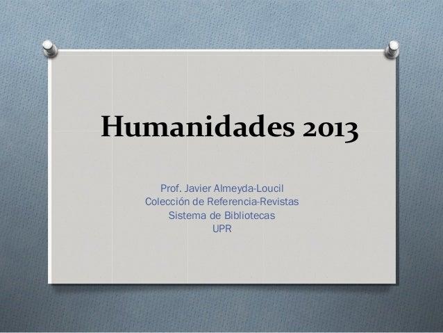 Humanidades 2013