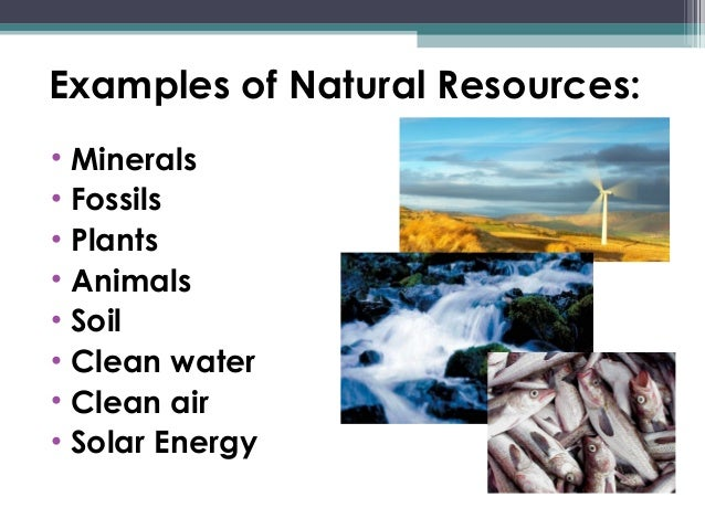 of human activities on natural resources