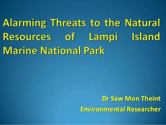 Dr Saw Mon Theint Environmental Researcher