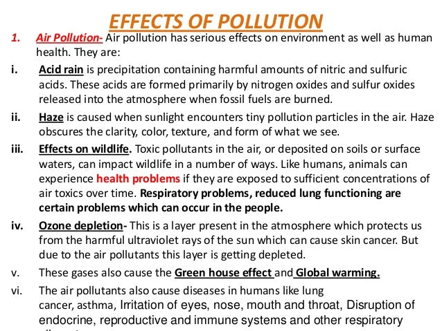 aims and objectives of effects of pollution One of the most glaring problems which the world faces today is the environmental pollution environmental education: objectives, aims and principles of.