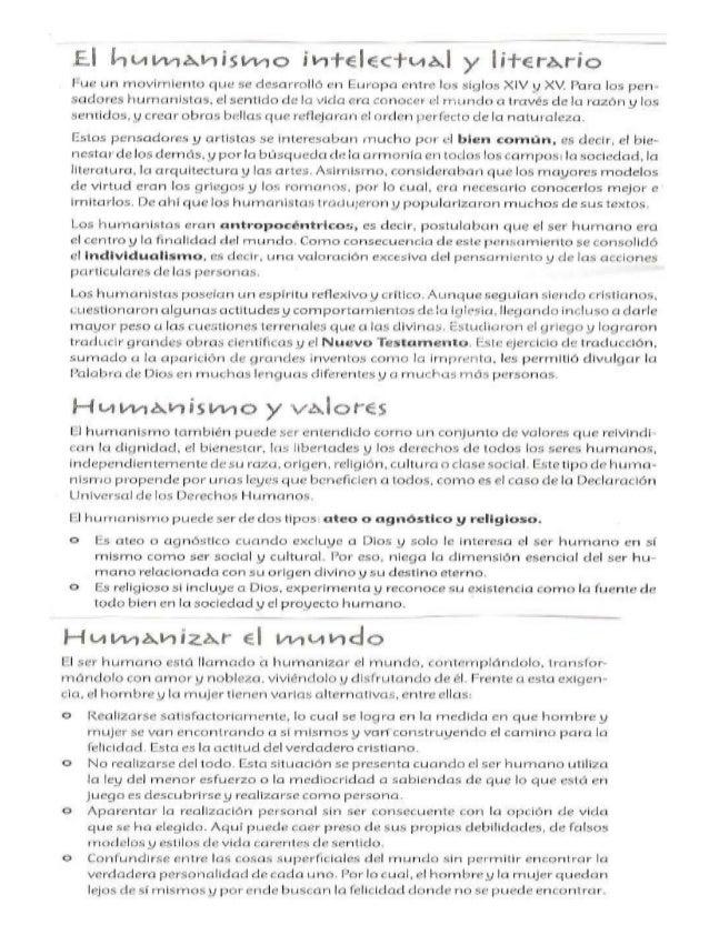 Humanismo y religion 10º