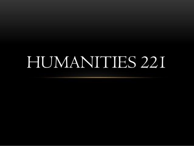 HUMANITIES 221