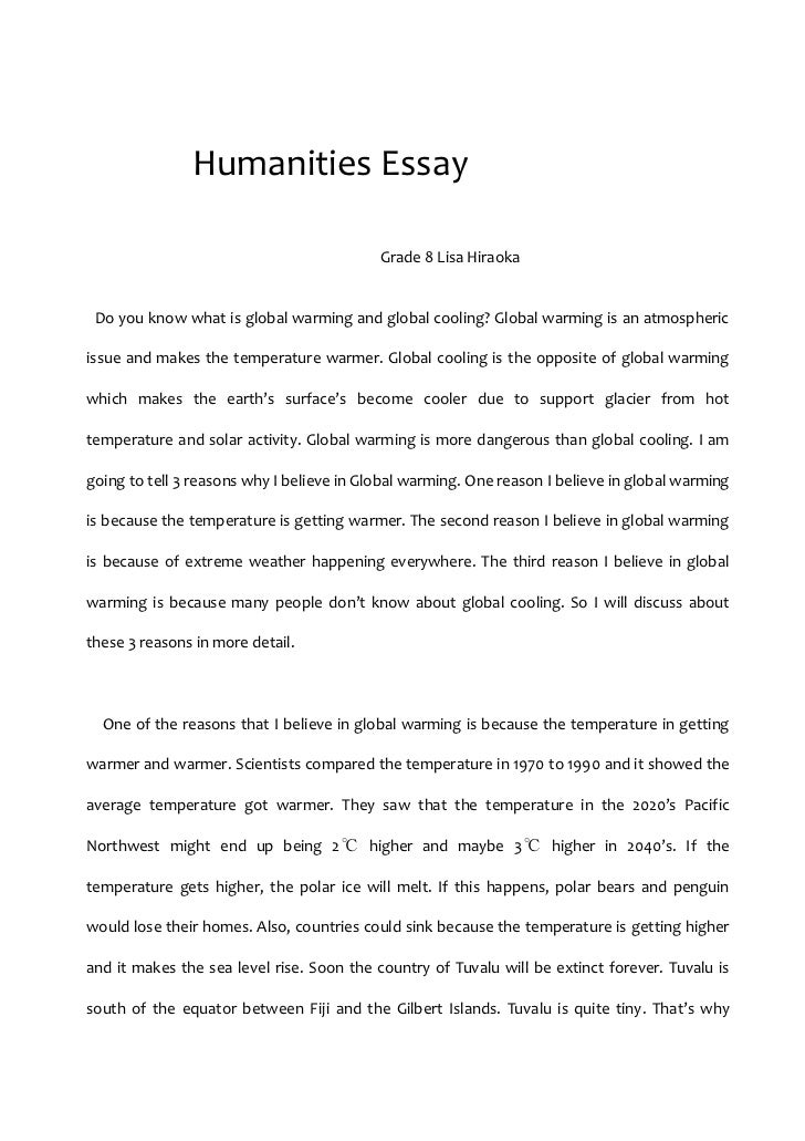 Humanities essay topics